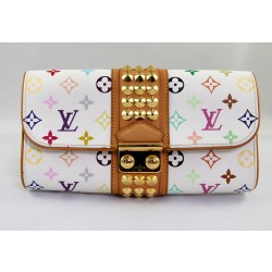 Louis Vuitton Courtney Clutch In White Monogram Multicolour.