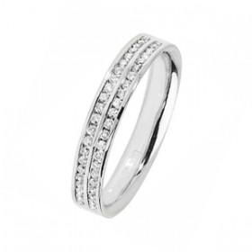 TWO ROW DIAMOND SET WEDDING RING