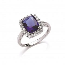 Stunning Silver Tanzanite Ring