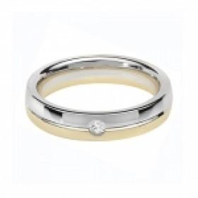 9CT BIO GOLD DIAMOND SET WEDDING RING