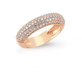 Rose Gold Zirconia Dress Ring