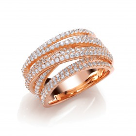 Rose Gold Layered Cocktail Ring
