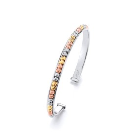 Tri Coloured Gold Bangle