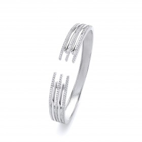 Rhodium Crystal Bangle