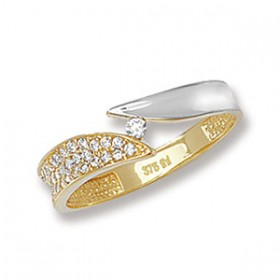 9ct Bio Gold Crystal Ring