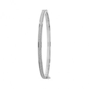 White Gold Crystal Bangle