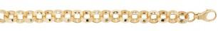 Gents 9ct Scroll Round Belcher Bracelet