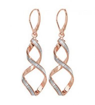 Stunning Rose Gold Crystal Twist Earrings