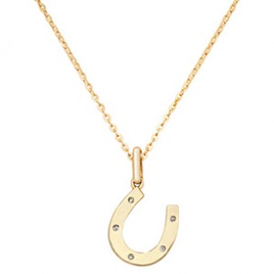 9ct Horseshoe Pendant & Necklace