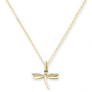 9ct Gold DragonFly Necklace With Pendant
