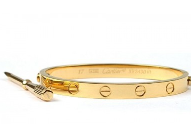 How to open and close a cartier love bangle