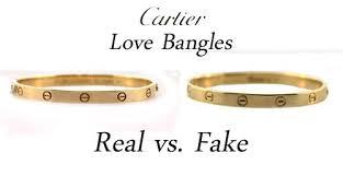 how to spot a fake cartier bangle