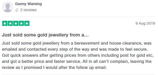 Trust pilot review 3 Buymyjewellery.com